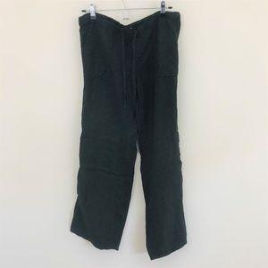 Victoria's Secret Black Linen Pants 4 Short